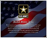 United States Army, Officially Licensed, Framed Print (14'' X 11'') Featuring the Army Seal and Oath on a Patriotic Background. Perfect for Home or Office!