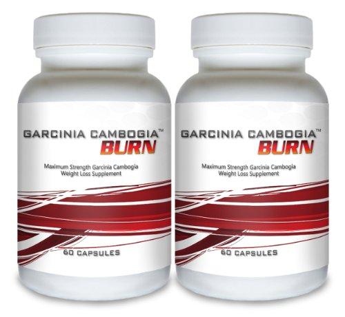 Garcinia cambogia Burn (2 bouteilles) - Clinique Force Garcinia cambogia supplément de perte de poids. Le mieux notés All Natural Fat Formule minceur pour la brûlure