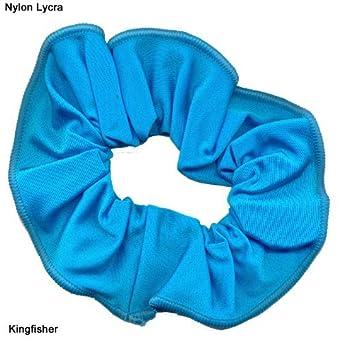 2fbc7dd53ed0 Shiny Nylon/Lycra hair scrunchie (Kingfisher): Amazon.co.uk: Clothing
