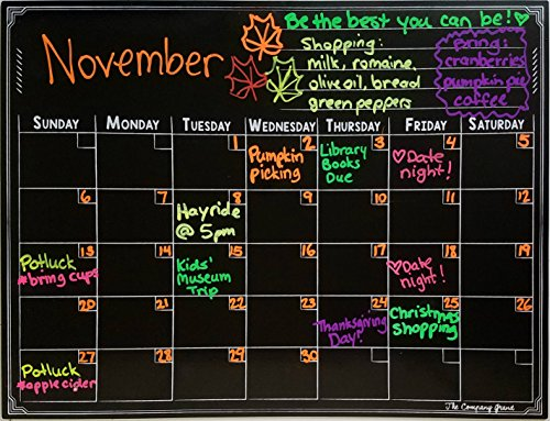 (Solid Magnet Anti-Glare Dry Erase Magnetic Chalkboard Calendar- WATERPROOF- Premium Quality)