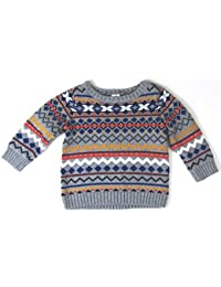 Fair Isle Nordic Print Knit Sweater, Boys