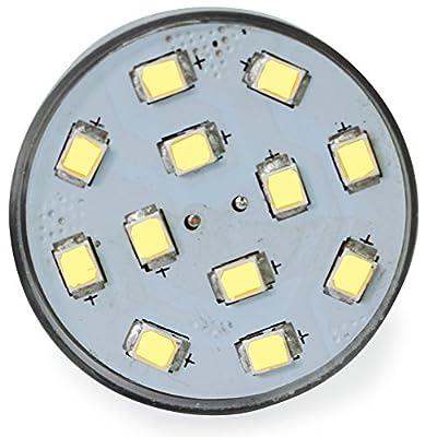 Leisure LED RV Trailer Motorhome LED Spot Light 1156 1139 1141 1383 LED Bulb 2 Watt 275 Lumen CW 10-30Volt 12Volt Short Neck (Cool White 6500K, 2-Pack): Home Improvement