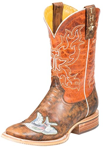 Tin Haul Inkd Tattoo Ladies Tan Leather Butterfly Cowboy Boots 9