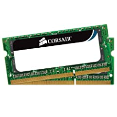 ModelBrand: CORSAIRModel: CMSO8GX3M2A1333C9Type: 204-Pin DDR3 SO-DIMMTech SpecCapacity: 8GB (2 x 4GB)Speed: DDR3 1333Cas Latency: 9Timing: 9-9-9-24Voltage: 1.5VMulti-channel Kit: Dual Channel KitManufacturer WarrantyParts: Lifetime limitedLab...
