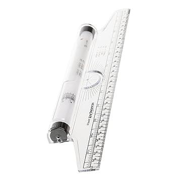 "12 /""Aluminium Kombinationsquadrat Edelstahl Wasserwaage Messwerkz ia"