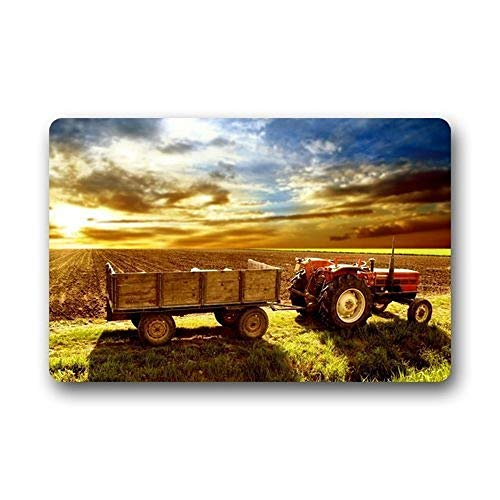 Frank Marner Door Mats Farm Tractor Background Doormat/Gate Pad Outdoors/Indoor Bathroom Kitchen Decor Area Rug/Floor Mat 23.615.7 Inch