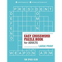 Easy Crossword Puzzle Books for Adults Large Print: Crossword Easy Puzzle Books