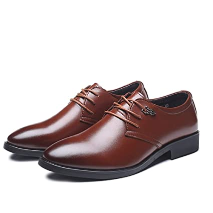 Mens Shoes Oxford Shoes for Men Formal Shoes Lace Up Microfiber Leather Pointed Toe Low Top Shoes Fashion