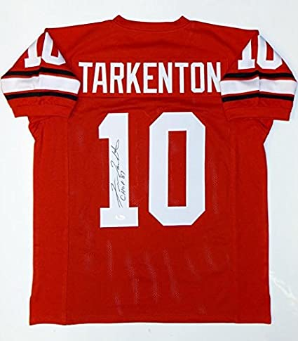 new product 2d0fd 0ba94 Autographed Fran Tarkenton Jersey - Red College Style W CHOF ...