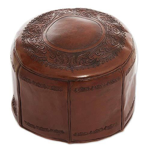 NOVICA Throne ottoman, Brown