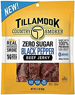 product image for Tillamook Country Smoker Zero Sugar Black Pepper Beef Jerky (Pack of 6)