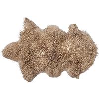 Bloomingville Mongolian Lamb Fur Rug, Sand