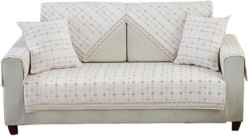 KEANCH Tela de algodón Antideslizante sofá Toalla Portada, A Prueba de Polvo Sofá slipcover Protectores de sofá de Animales domésticos (Color : A, Size : 1pcs70x210cm(28x83inch)): Amazon.es: Hogar