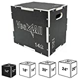 Yes4All Non-Slip Wooden Plyo Box, Easy-to-Assemble Plyometric Jump Box for Jumping Trainers, Workout Step Platform, HIIT Exercise Jump Box for Fitness, Box-Squats and Steps-up, Multi Sizes