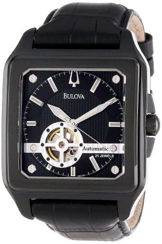 Bulova Men's 98A130 Bulova Series 160 Mechanical (Bulova Mens Black Strap Watch)