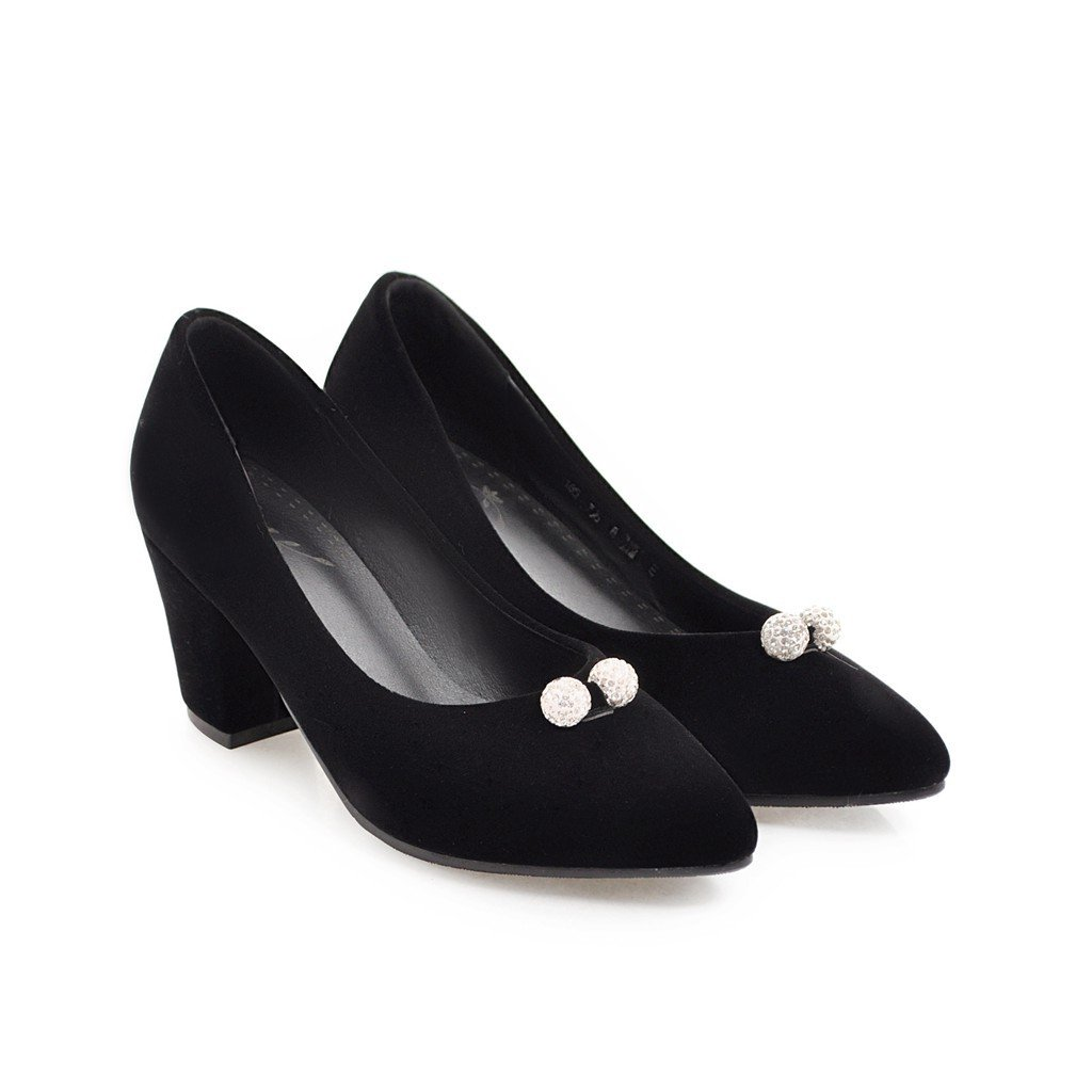 CXQ-Heels QIN&X Block der Frauen Schuheschwarz Schuhe Flache Mund Schuheschwarz Frauen efbbfc