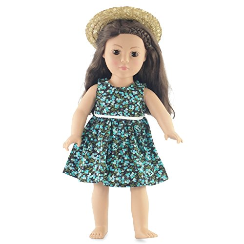 18 Inch Doll Floral Easter Dress Outfit | Fits 18