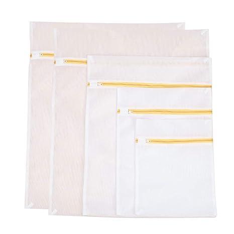 TOPBATHY 5pcs bolsas de lavado de ropa de malla con cremallera ...