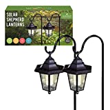 Benross GardenKraft 18240 Solar Metal Shepherds Crook Garden Light (Pack of 2)