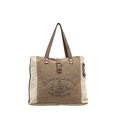 Amazon.com  Myra Bags Provence Upcycled Canvas Tote Bag S-0939  Clothing dfd7102fcd4ed