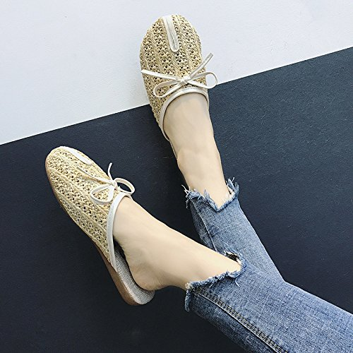 Plates Sandales New Guang Beige Femme Xing Style 36 Creux Chaussures 37 brown Summer xUO1qUwn0