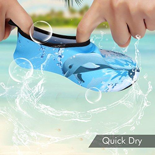 Piscine Padgene Enfants D'eau Unisexe Dauphin Yoga Bébés Chaussures Garçons Filles Natation Bleu Plage 6q6Br48wx