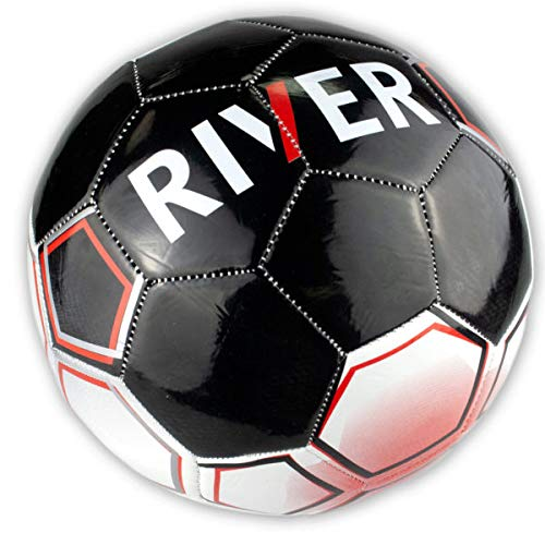 Size 5 Argentina River Plate Black & White Soccer Ball - 2/Pack (1 Pack) by bulk buys