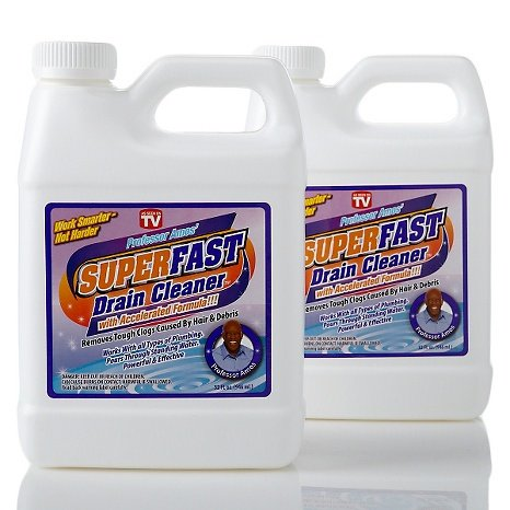 Professor Amos SuperFast 2-Pack -32oz [Drain Cleaner] & [Drain Opener] [Liquid] [Hair Dissolve] [Grease] [Buildup] [Drain Clog] [Remover]