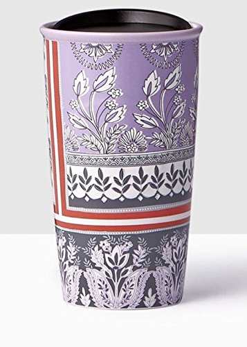 Starbucks Print (Starbucks Floral Print Double Wall Traveler Coffee Mug Tumbler 12 Ounce)