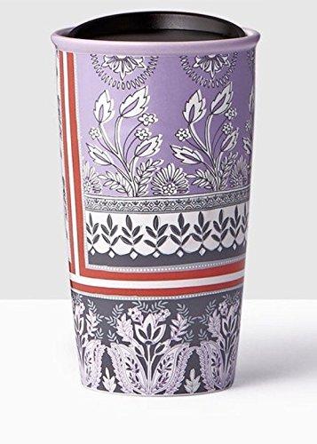Starbucks Print (Starbucks Floral Print Double Wall Traveler Coffee Mug Tumbler 12 Ounce)