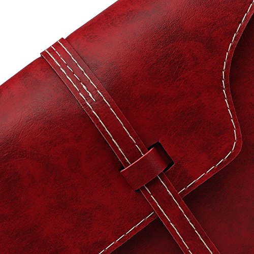 Fashion Robemon Women Satchel Square Red Trend Messenger Wine Belt Casual Handbag Shoulder Pouch Crossbody Bag Small 8FxTY