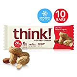Think Thin Barras de Proteína, Chunky Peanut Butter, 60 g