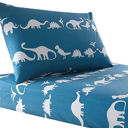 Lausonhouse 100% Cotton Dinosaur Print Sheet Set for Kids Bedding - Full by Lausonhouse