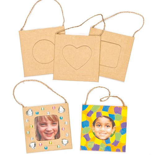 Baker Ross Mini Craft Photo Frames (Pack of 12) For Kids To Decorate, Arts and Crafts