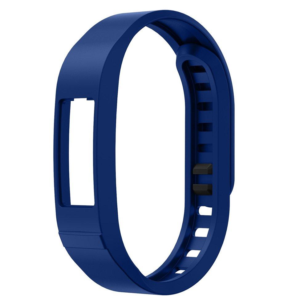 シリコン時計ストラップ、RTYOu ( TM )耐久性新しい交換用Tpu手首バンドストラップfor Garmin Vivofit 2スマートリストバンドWatch ダークブルー ダークブルー B077PWXGW8