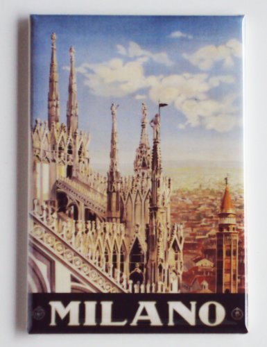 Milan Italy Travel Poster Fridge Magnet (2 x 3 inches)