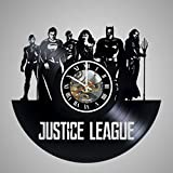 Cheap Justice League HANDMADE Vinyl Record Wall Clock – Get unique room home decor – Gift ideas for men, boys and girls – Unique COMICS art design – Comics Wall Clock Art – Leave a feedback and win a clock!