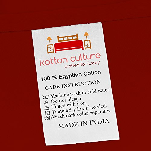Premium Duvet Cover with Zipper Closer 100% Egyptian Cotton 600 Thread Count Luxurious, Durable and Hypoallergenic Ultra Soft Breathable By Kotton Culture ( California King/King, Burgundy )