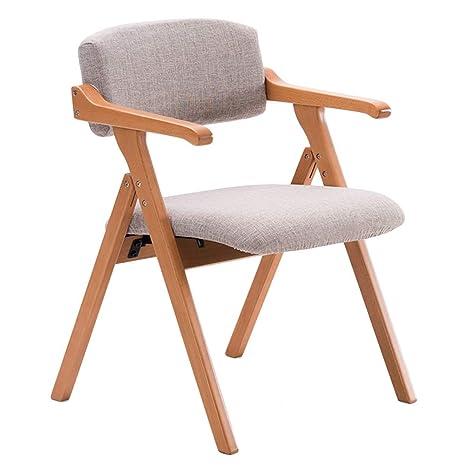Amazon.com: CAIJUN Silla de madera maciza marco plegable ...