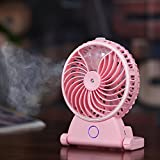 Idani O2 USB Rechargeable Water Misting Mister Spray Fan Mini Personal Portable Handheld Outdoor Cooling System Humidifier(Pink)
