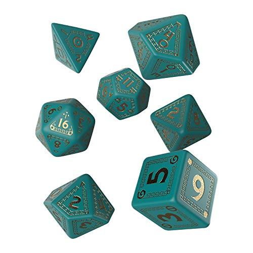 - RuneQuest Dice Set Turquoise & Gold (7) Workshop Giochi Tavolo Accessori