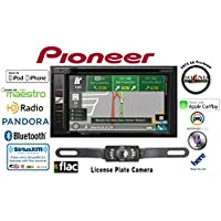 Pioneer AVIC-5100NEX In Dash Double Din 6.2 DVD CD Navigation Receiver with a Crime Stopper SV5130IR License Plate Style Backup Rear View Camera and a FREE SOTS Air Freshener