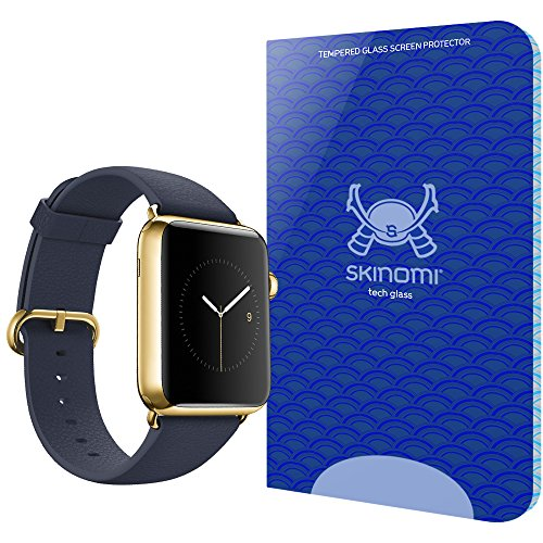 Apple Watch 42mm Screen Protector, Skinomi Tech Glass Screen Protector for Apple Watch 42mm Clear HD and 9H Hardness Ballistic Tempered Glass Shield