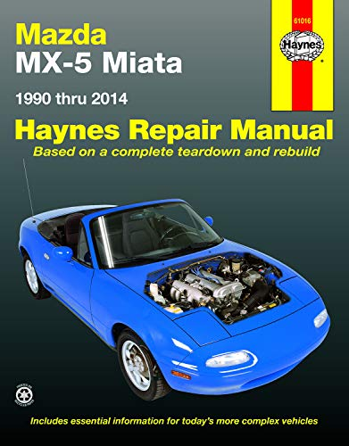 - Mazda MX-5 Miata 1990 thru 2014: Does not include information specific to turbocharged models (Haynes Repair Manual)