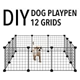 Allisandro Pet Rabbit Bunny Playpen Small Animal Cage Indoor Portable Yard Fence Guinea Pigs, Puppy Kennel Crate Fence Tent