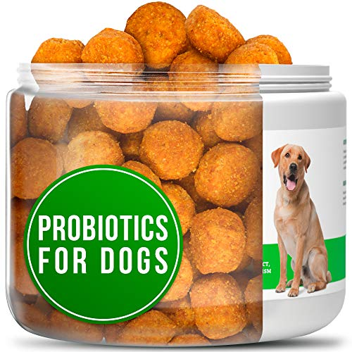 Probiotics for Dogs - Chewable Dog Digestive Enzymes - Dog Diarrhea, Stomach, Vomit, Gas, Allergy Relief, Weight Support - Contains Prebiotics - Dog Probiotics Supplement - 130 Chews ()
