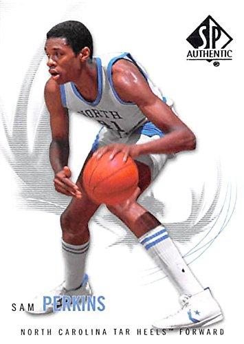 Sam Perkins basketball card (North Carolina Tar Heels NCAA) 2010 Upper Deck SP Authentic #55 (Card Basketball Ncaa)