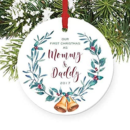 Christmas Gifts For New Parents.Amazon Com Dozili Christmas Tree Decoration Our First