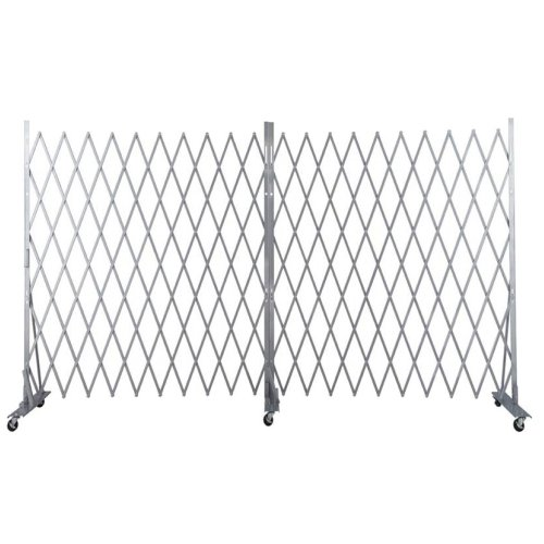Versare 2042005 Lock-N-Block Collapsible Security Gate, 30' Long, Silver