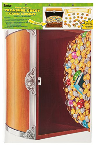 Eureka Think Tank Treasure Chest Coin Count Bulletin Board Sets (847693)